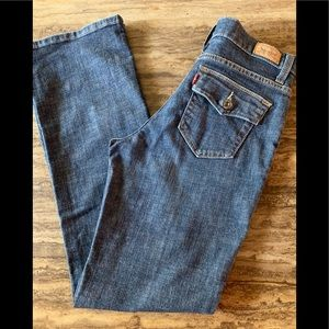 LEVI'S PERFECTLY SLIMMING BOOT CUT 512 JEANS 4 M